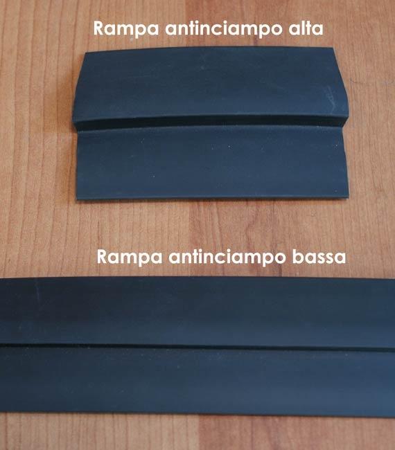Accessori per passatoia zerbino e tappeto Art Rampa antinciampo 3M in gomma nera bassa e alta
