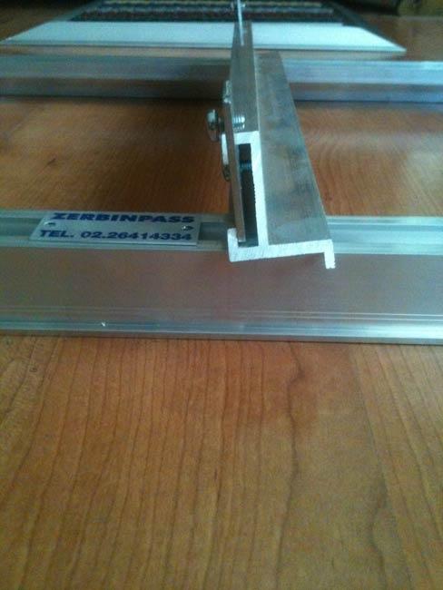 Accessori per zerbino e tappeto Art Telaio in alluminio estruso sezione profilo