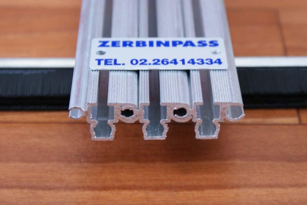 Zerbino in alluminio solo struttura per spazzola