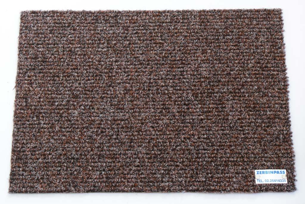 Zerbino sintetico Art 204 marrone con i fili bianchi