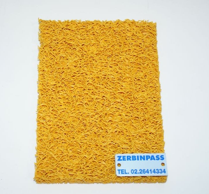 tappeto ricciolo vinilico articolo 1710 colore giallo