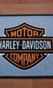 tappeto articolo asciugapass personalizzato a stampa con logo harley-davidson