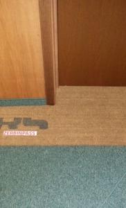 zerbino in cocco articolo 101 naturale personalizzato con logo del cliente sagomato presso via lattanzio milano